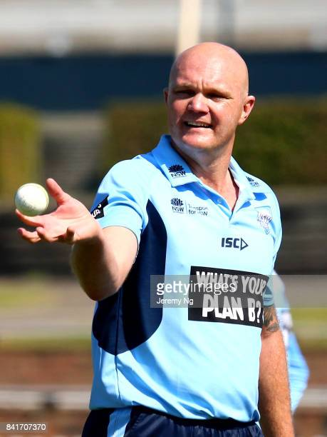 Doug Bollinger of Cricket NSW prepares to bowl during the Cricket NSW Intra Squad Match at Hurstville Oval on September 2 2017 in Sydney Australia