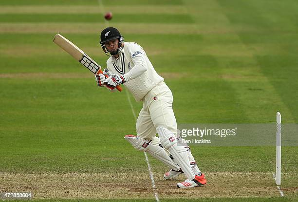 Doug Bracewell of New Zealand in action during a tour match between Somerset and New Zealand at The County Ground on May 10 2015 in Taunton England