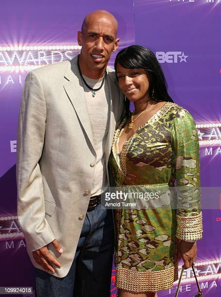 Doug Christie and Jackie Christie during BET Awards 2007 Black Carpet at Shrine Auditorium in Los Angeles California United States