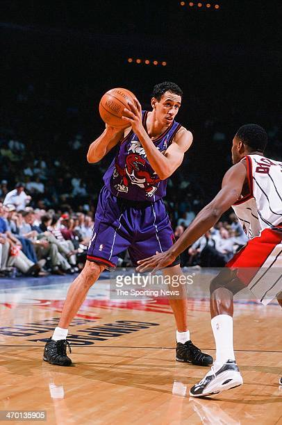 Doug Christie of the Toronto Raptors during the game against the Houston Rockets on March 25 1999 at Compaq Center in Houston Texas