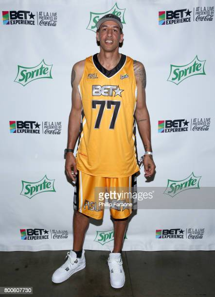 Doug Christie poses backstage at the Celebrity Basketball Game presented by Sprite and State Farm during the 2017 BET Experience at Staples Center on...
