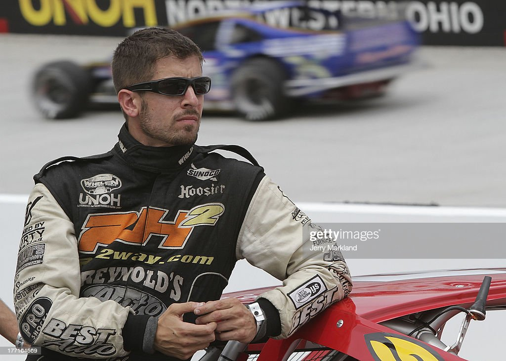 Doug Coby, driver of the #52 Furnace & Duct/Seekonk Grand Prix Chevroletwaits on pit road during qualifying for the NASCAR Whelen Tour Titan roof 150 at Bristol Motor Speedway on August 21, 2013 in Bristol, Tennessee.