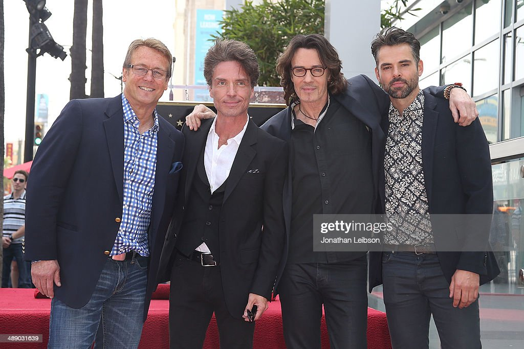 Doug Davidson, Richard Marx, Rick Springfield and Jason Thompson attend the ceremony honoring Rick Springfield with a Star on The Hollywood Walk of Fame on May 9, 2014 in Hollywood, California.