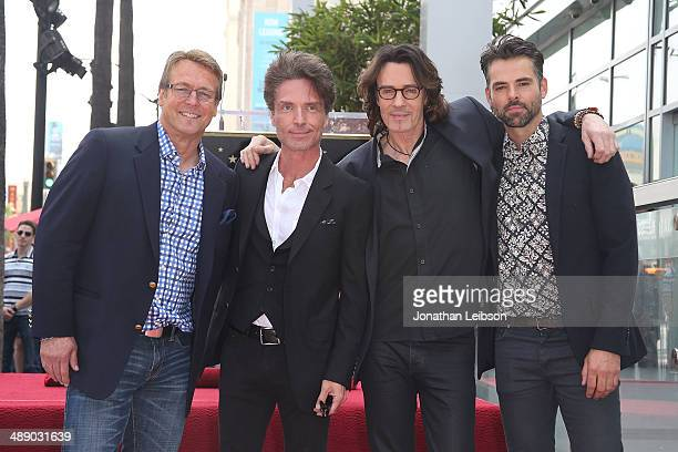 Doug Davidson Richard Marx Rick Springfield and Jason Thompson attend the ceremony honoring Rick Springfield with a Star on The Hollywood Walk of...