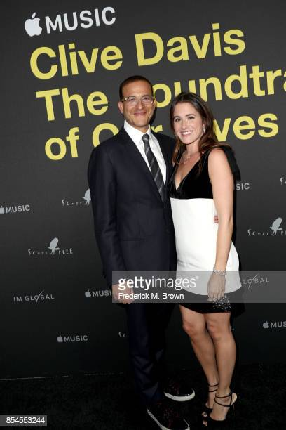 Doug Davis and Jessie Davis attend the Apple Music Los Angeles Premiere Of 'Clive Davis The Soundtrack Of Our Lives' at Pacific Design Center on...