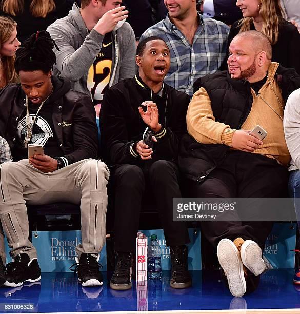 Doug E Fresh attends Milwaukee Bucks vs New York Knicks game at Madison Square Garden on January 4 2017 in New York City