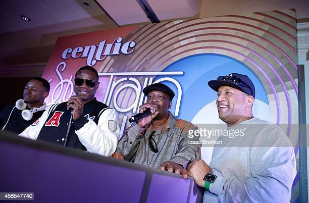 Doug E Fresh Grandmaster Caz and Lovebug Starski attend the 2014 Soul Train Music Awards Centric Soul Train Weekend KickOff Reception at The Orleans...