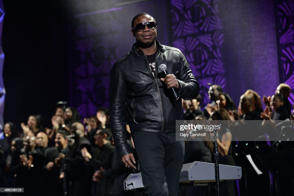 <a gi-track='captionPersonalityLinkClicked' href=/galleries/search?phrase=Doug+E.+Fresh&family=editorial&specificpeople=207004 ng-click='$event.stopPropagation()'>Doug E. Fresh</a> speaks onstage at the Super Bowl Gospel Celebration 2014 at The Theater at Madison Square Garden on January 31, 2014 in New York City.