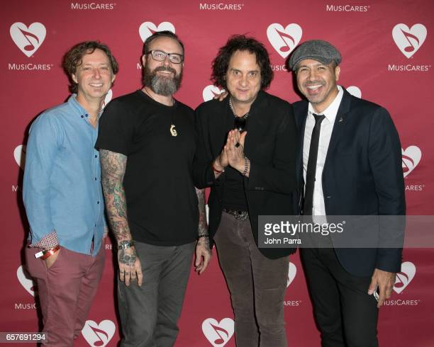 Doug Emery Stephen Gibb Bobby MacIntyre and Kenny Cordova attend the Addiction Health Wellness in the Dance Community at Gibson Miami Showroom on...