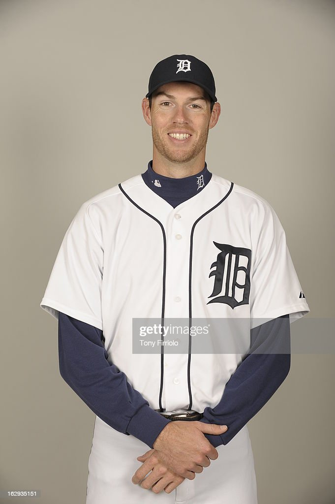 <a gi-track='captionPersonalityLinkClicked' href=/galleries/search?phrase=Doug+Fister&family=editorial&specificpeople=6144840 ng-click='$event.stopPropagation()'>Doug Fister</a> #58 of the Detroit Tigers poses during Photo Day on February 19, 2013 at Joker Marchant Stadium in Lakeland, Florida.