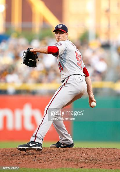 Doug FIster of the Washington Nationals pitches against the Pittsburgh Pirates at PNC Park on July 23 2015 in Pittsburgh Pennsylvania