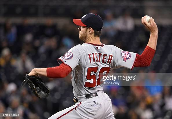 Doug Fister of the Washington Nationals pitches during the first inning of a baseball game against the San Diego Padres at Petco Park May 14 2015 in...