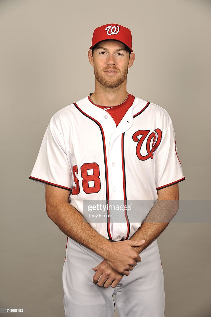 <a gi-track='captionPersonalityLinkClicked' href=/galleries/search?phrase=Doug+Fister&family=editorial&specificpeople=6144840 ng-click='$event.stopPropagation()'>Doug Fister</a> #58 of the Washington Nationals poses during Photo Day on February 23, 2014 at Space Coast Stadium in Viera, Florida.