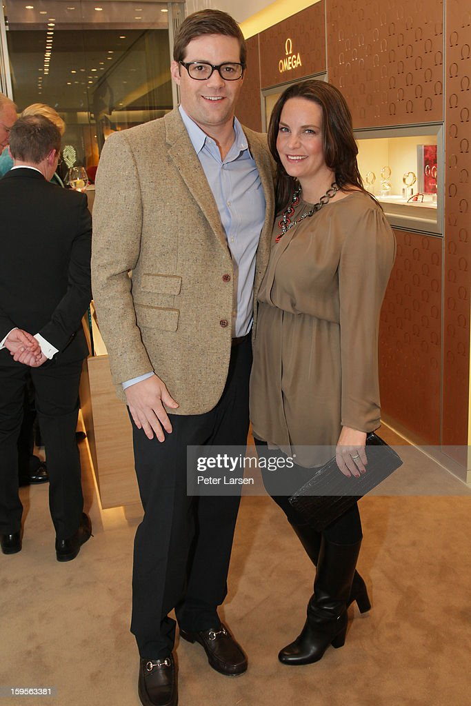 Doug Florence and Meg Florence attend the Grand Opening of the Omega Boutique at NorthPark on January 15, 2013 in Dallas, Texas.