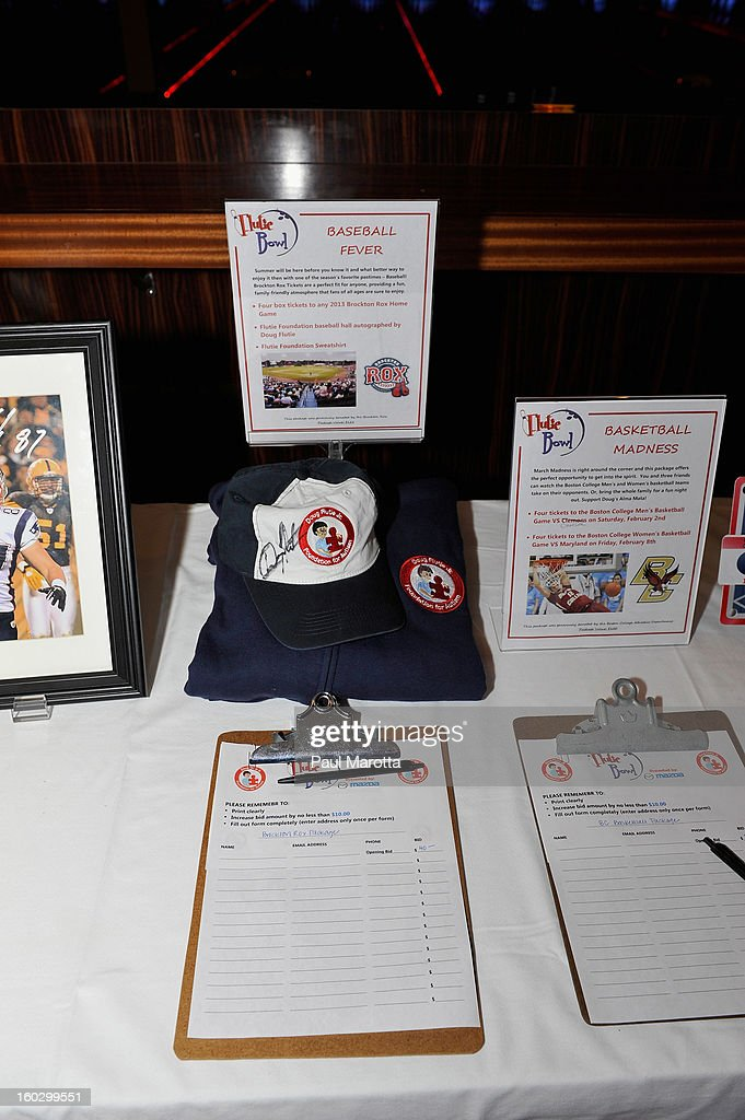 Doug Flutie autographed memorabilia to be auctioned to raise money for the10th Annual Flutie Bowl to strike out autism at KINGS on January 28, 2013 in Boston, Massachusetts.