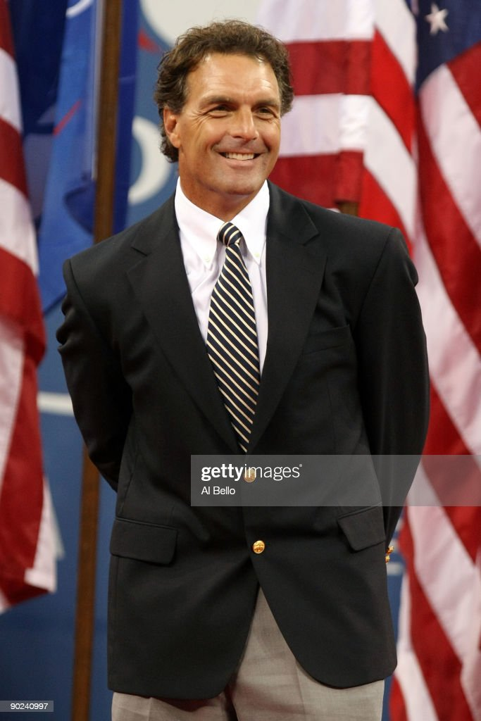 Doug Flutie looks on during the Opening Ceremony of the 2009 US Open at the USTA Billie Jean King National Tennis Center on August 31 2009 in...