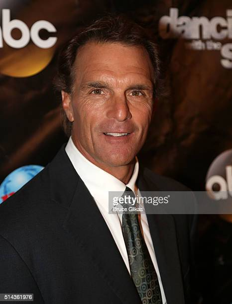 Doug Flutie poses at the 22nd Season Stars of ABC's 'Dancing With The Stars' cast announcement at Planet Hollywood Times Square on March 8 2016 in...