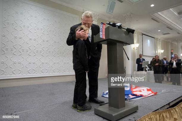 TORONTO ON MARCH 22 Doug Ford gives his nephew Doug a hug during speeches The Ford family held a celebration of Rob Ford's life on the first...