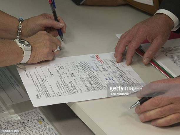 Doug Ford refiles his papers for the Mayor's race after an earlier problem on September 12 2014 Doug's nomination papers