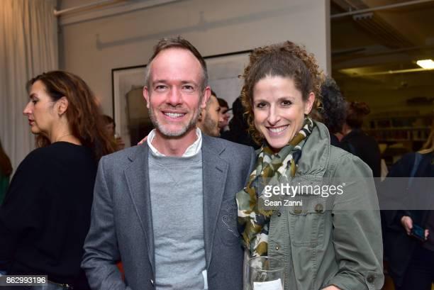 Doug Gellenbeck and Jodi Cohan attend Tom Faulkner at Angela Brown Ltd on October 18 2017 in New York City