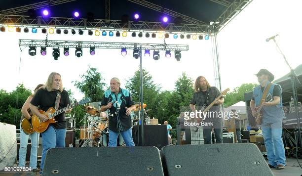 Doug Gray Marcus James Henderson Rick Willis Tony Black BB Borden and Chris Hicks of The Marshall Tucker Band performs at the 8th Annual Rock Ribs...