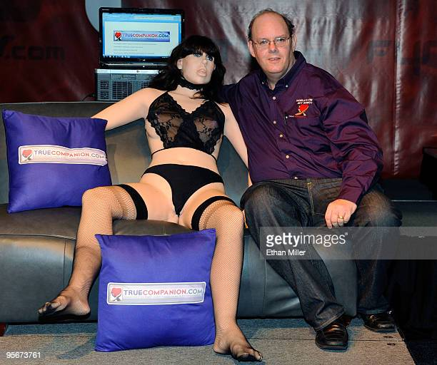 Doug Hines owner and designer for TrueCompanion unveils Roxxxy a prototype of what Hines said is the world's first female sex robot complete with...