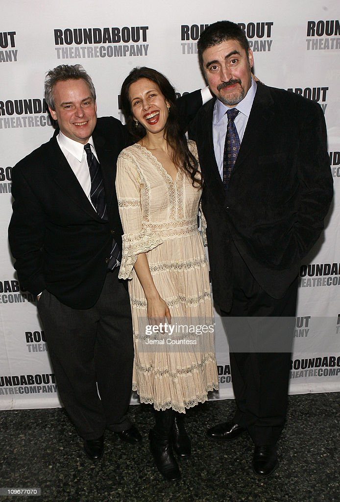 Doug Hughes Jessica Hecht and Alfred Molina during 'Howard Katz' Opening Night in New York City After Party in New York City New York United States