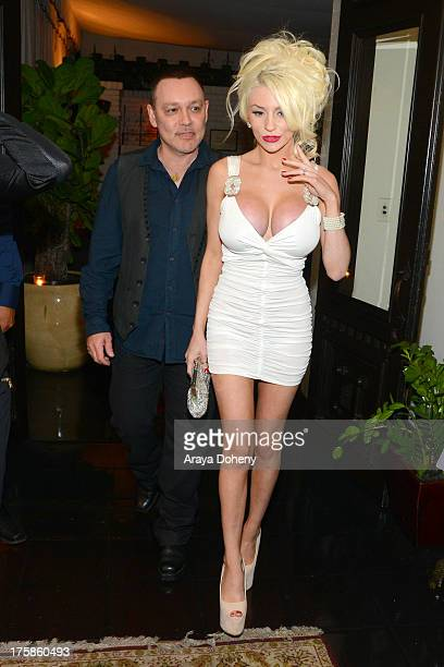 Doug Hutchison and Courtney Stodden attend an exclusive party to celebrate the launch of 'Passion and Pleasure' hosted by Tracey Jewel executive...