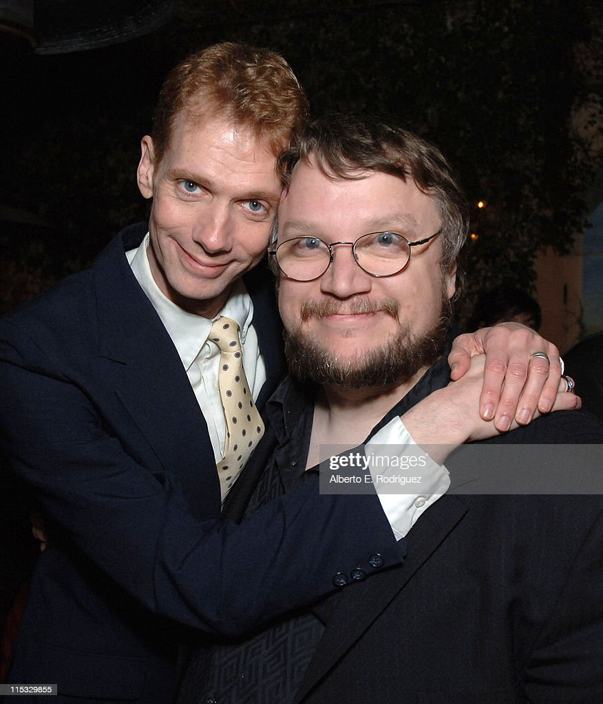 Doug Jones and Guillermo del Toro during Dinner for Guillermo Del Toro at Pane e Vino in Los Angeles California United States