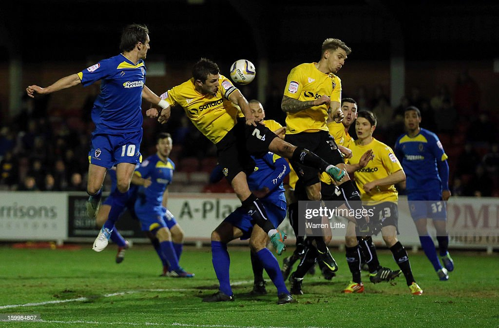 Doug Loft, Port Vale Captain in action during the npower League Two match between AFC Wimbledon and Port Vale at The Cherry Red Records Stadium on January 24, 2013 in Kingston upon Thames, England.