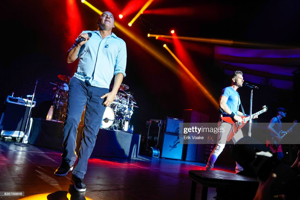 Doug Martinez and Nick Hexum of 311 perform at Hollywood Palladium on August 19, 2017 in Los Angeles, California.