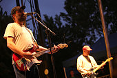 Doug Martsch and Brett Netson of Built to Spill performs during the 2009 Pitchfork Music Festival at Union Park on July 17 2009 in Chicago Illinois