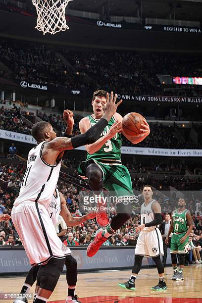 Doug McDermott of the Chicago Bulls goes to the basket during the game against the Brooklyn Nets on March 17 2016 at the United Center in Chicago...