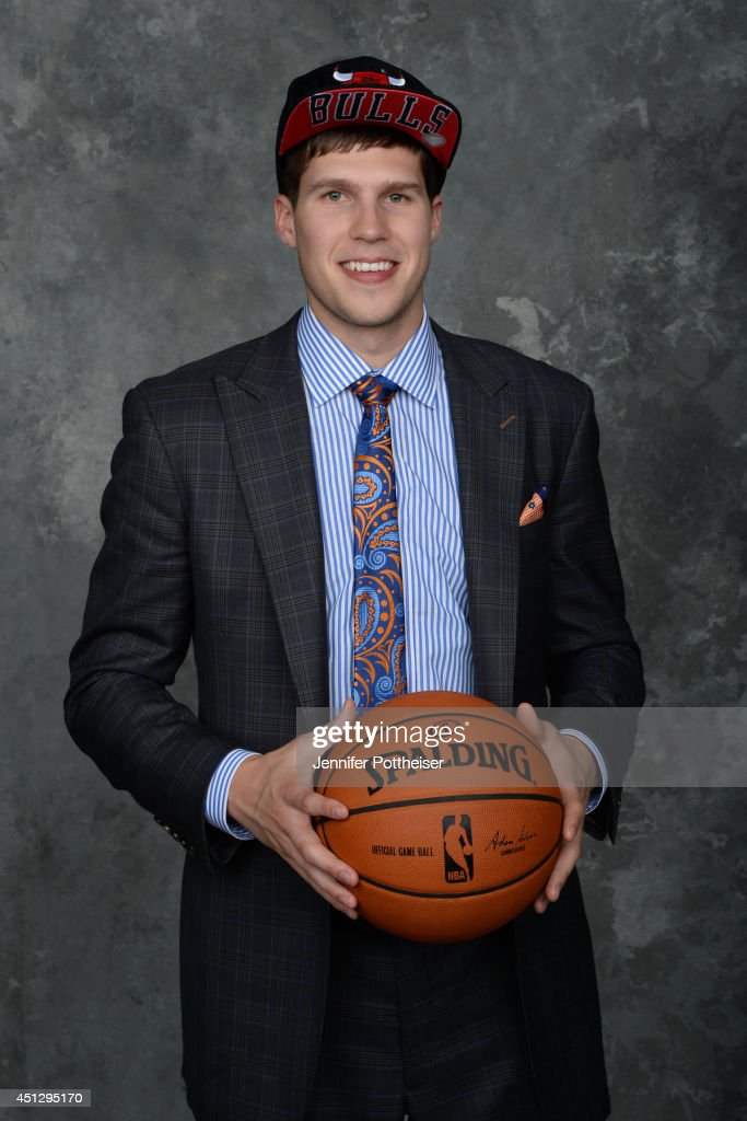 <a gi-track='captionPersonalityLinkClicked' href=/galleries/search?phrase=Doug+McDermott&family=editorial&specificpeople=7544468 ng-click='$event.stopPropagation()'>Doug McDermott</a>, the 11th pick overall by the Chicago Bulls, poses for a portrait during the 2014 NBA Draft at the Barclays Center on June 26, 2014 in the Brooklyn borough of New York City.