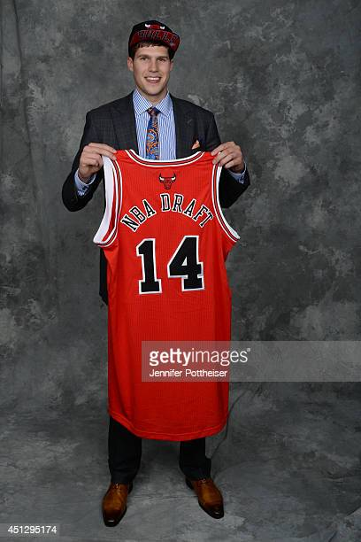 Doug McDermott the 11th pick overall by the Chicago Bulls poses for a portrait during the 2014 NBA Draft at the Barclays Center on June 26 2014 in...