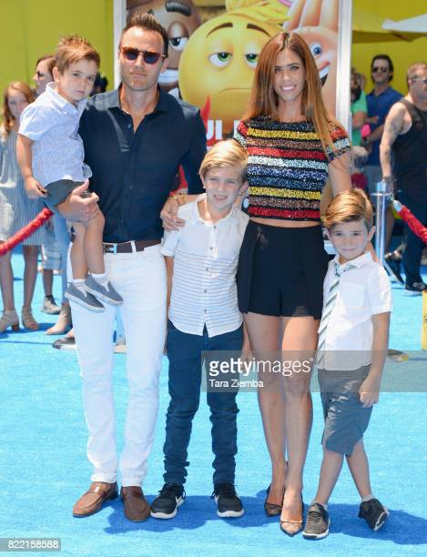 Doug McLaughlin and television personality Lydia McLaughlin attend the premiere of Columbia Pictures and Sony Pictures Animation's 'The Emoji Movie'...