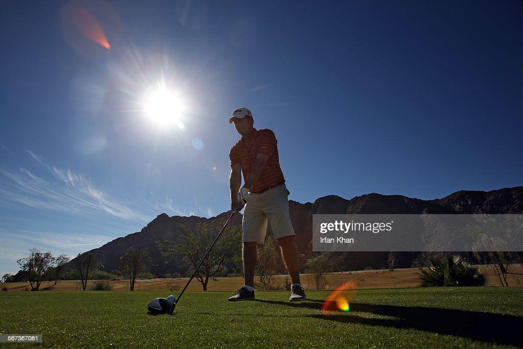 NOVEMBER 20 2014 Doug Miller plays golf at at SilverRock Resort golf course in La Quinta