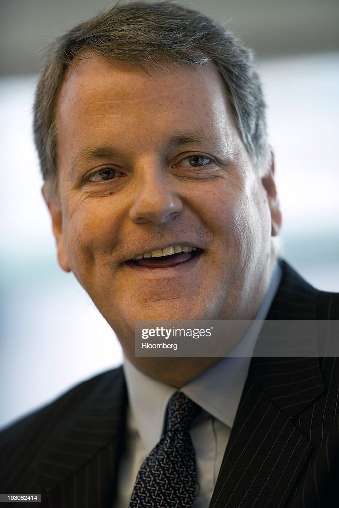 Doug Parker, chief executive officer of US Airways Group Inc., speaks during an interview in New York, U.S., on Monday, March 4, 2013. US Airways Group Inc. and AMR Corp.'s American Airlines announced an $11 billion merger last month that will create the world's largest carrier with Parker running the new company. Photographer: Victor J. Blue/Bloomberg via Getty Images
