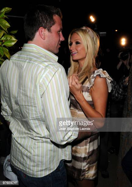 Doug Reinhardt and Paris Hilton are seen on March 11 2010 in West Hollywood California