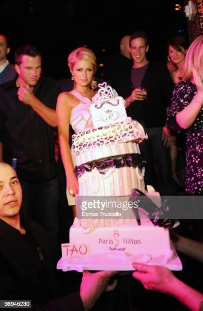 Doug Reinhardt and Paris Hilton celebrate Paris' birthday at TAO Nightclub at the Venetian on February 20 2010 in Las Vegas Nevada
