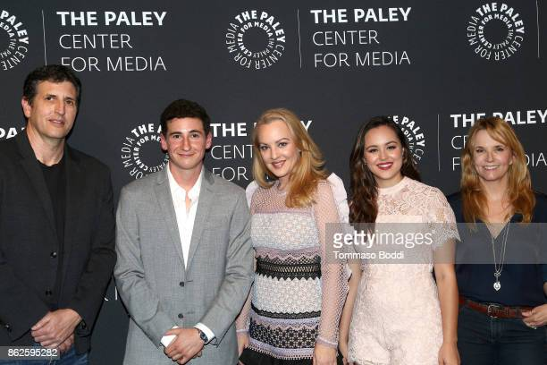 Doug Robinson Sam Lerner Wendi McLendonCovey Hayley Orrantia and Lea Thompson attend the Paley Center For Media Presents 'The Goldbergs' 100th...