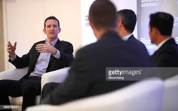 Doug Ulman chief executive officer of The Livestrong Foundation speaks at Bloomberg Government's 'Mind The Gap Connecting Health Care Policy with...