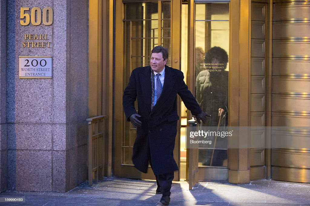 Doug Whitman, founder of the Whitman Capital LLC hedge fund, exits federal court after being sentenced on insider trading charges in New York, U.S., on Thursday, Jan. 24, 2012. Whitman was given two years in prison for trading on illegal tips about Polycom Inc., Google Inc. and Marvell Technology Group Ltd. Photographer: Scott Eells/Bloomberg via Getty Images
