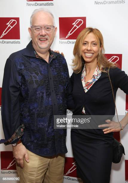 Doug Wright and Amanda Green attend The New Dramatists' 68th Annual Spring Luncheon at the Marriott Marquis on May 16 2017 in New York City
