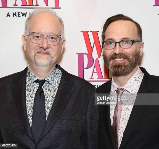 Doug Wright and David Clement attend the Broadway opening night after party for 'War Paint' at Gotham Hall on April 6 2017 in New York City