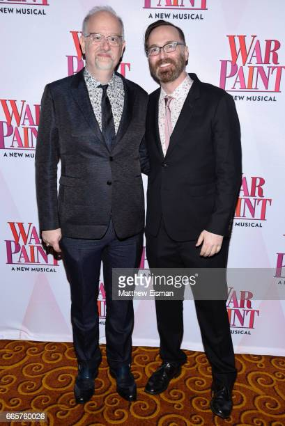 Doug Wright and David Clement attend 'War Paint' Broadway opening night after party at Gotham Hall on April 6 2017 in New York City