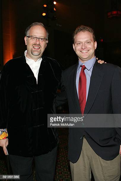 Doug Wright and David Javerbaum attend 'On Location' Tisch NY Gala 2005 at Cipriani 42nd St on October 28 2005 in New York City