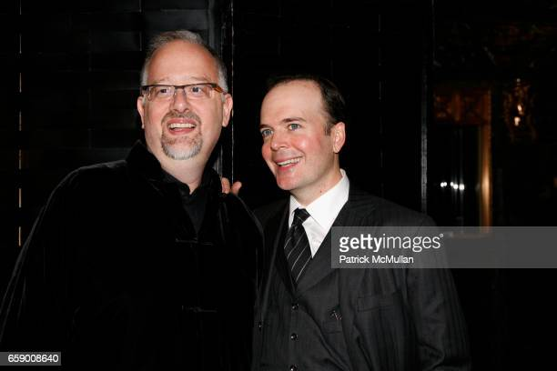 Doug Wright and Jefferson Mays attend The DRAMATISTS GUILD FUND Annual Benefit Gala at The Hudson Theatre on April 20 2009 in New York City