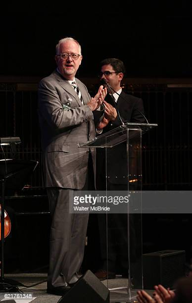 Doug Wright and Jonathan Tolins during the Dramatists Guild Fund Gala 'Great Writers Thank Their Lucky Stars The Presidential Edition' presentation...