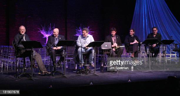 Doug Wright Evan Wolfson Jose Rivera Patrick Healy Paul Rudnick and Moises Kaufman attend the 'Standing On Ceremony The Gay Marriage Plays' Opening...